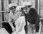 "Marilyn Monroe in the film ""The Misfits"" with Montgomery Clift (l) and Clark Gable (r)-1961"