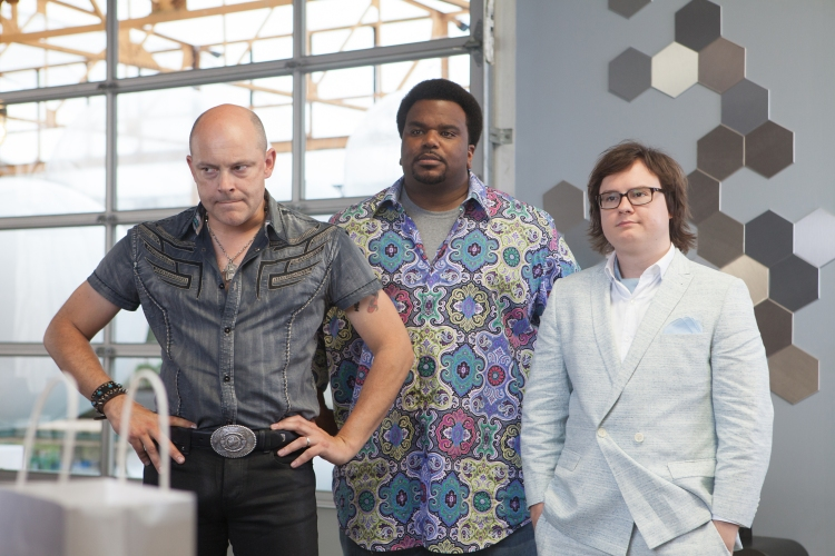Left to right: Rob Corddry is Lou, Craig Robinson is Nick, and Clark Duke is Jacob in HOT TUB TIME MACHINE 2, from Paramount Pictures and Metro-Goldwyn-Mayer Pictures.